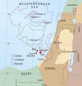 Israel har gjort store gassfunn like over sjøgrensa mot Libanon.