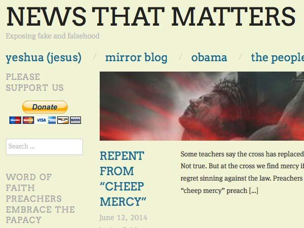 Klikk på foto, så kjem du til News That Matters.